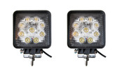 27 Watt Flood Beam Square LED Work Light  ** 2 PACK **