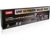GME TX3350UVP 5 WATT SUPER COMPACT UHF CB RADIO - VALUE PACK