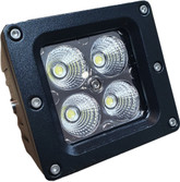 20 Watt Flood Beam Dually Style Square Housing LED Work Light (Sold in pairs)