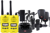 TX6160YTP Yellow 5 Watt IP67 UHF CB Handheld Radio - Twin Pack