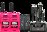 GME TX667MCGTP 1 WATT TWIN PACK UHF CB HANDHELD RADIO MCGRATH FOUNDATION - PINK