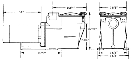 Hayward Super swimming pool pump dimensions