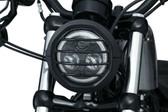 "Kuryakyn Dillinger Headlight Trim Ring, 5-3/4"", Satin Black, Cast Aluminum 6688"