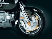 Kuryakyn 7450 Rotor Cover, Chrome GL1800 01-17, Optional Ring of fire image 3, 4