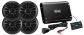 Boss Audio BPS4BSK Amp Speaker Kit 4Ch 500W Bluetooth