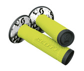 Scott USA 219624-4755 SX II MX Grips, Tattoo 2 Black/Neon Yellow