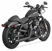 Vance & Hines 46861 3-In Twin Slash Slip-Ons Black Fits 14-20 H-D XL Sportster