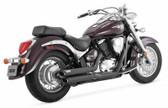 Vance & Hines Twin Slash Stagg Black 48293 Fits 2001-2009 Suzuki C50