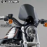 National Cycle Gladiator Windshield, Bright Chrome Dark Tint N2705