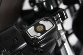 RSD Cafe'  Front M/C Brake Cap for Sportster Contrast-Cut 0208-2038-BM XL 04-17