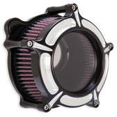 RSD Clarion Air Cleaner Contrast Cut 0206-2126-BM Twin Cam & Evo 93-16