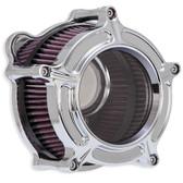 RSD Clarion Air Cleaner Chrome 0206-2128-CH FL, FLHT TBW 06-16