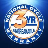 National Cycle Mohawk™ Windshield Straight Bracket, Dark Tint, Black,  44-51MM