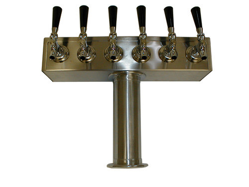 6 Faucet Beer Tower 3 Quot Stainless Steel Quot T Quot Tower