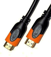 K2 HDMI-0022-3.0 Premium Series HDMI Cable v1.4 3M - Black and Orange. 30AWG Copper Wire