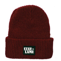 Stay Lame Beanie   COLOR: Maroon
