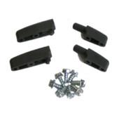 C00012 - Castle Door Hinge Set w/ Screws (2 Male & 2 Female)