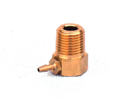 P18165 - 1/8 NPT x 1/16 Barb 90 Degree Brass Fitting