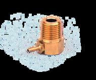 P18165 - 1/8 NPT x 1/16 Barb 90 Degree Brass Fitting