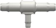 "P33216 - 3/32 hose ID x 1/16 hose ID White ""T"" Barb"