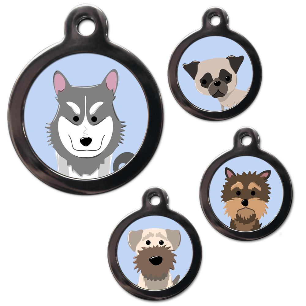 Dog breed tags for pets