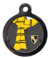 Yellow and Black Scarf Pet Tag