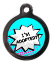 I'm Adopted Dog Identity Disc - Blue