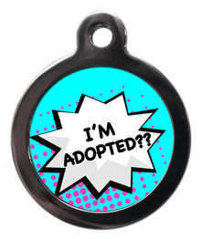 I'm Adopted Dog Identity Disc - Blue