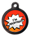 I'm Adopted Dog Identity Disc - Red