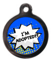 I'm Adopted Dog Identity Disc - Dark Blue