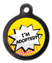 I'm Adopted Dog Identity Disc - Yellow