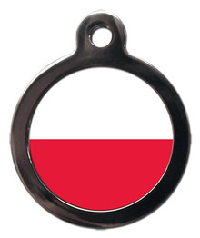 Polish Flag Pet ID Tag