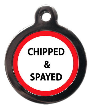 Chipped & Spayed Pet ID Tag