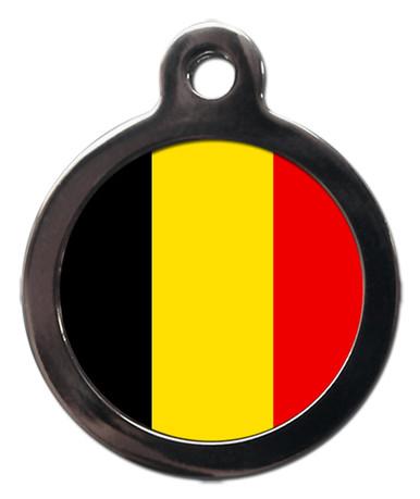 Belgium Flag Pet ID Tag