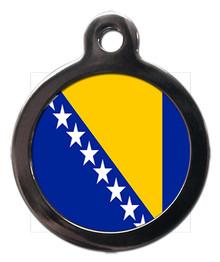Bosnian Flag Pet ID Tag