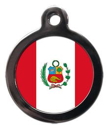 Peru Flag Pet ID Tag