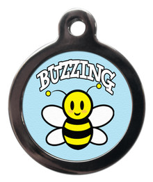 BUZZING BEE DOG ID TAG