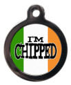 I'm chipped Irish Flag Tag For Dogs