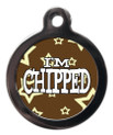 I'm chipped starz dog identification tag