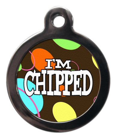 I'm chipped cool design tag for dogs