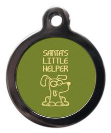 Santa's Little Helper Pet ID Tags