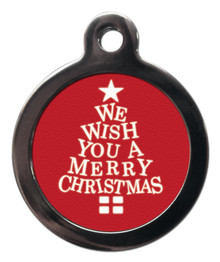 We Wish You A Merry Christmas Dog ID Tag