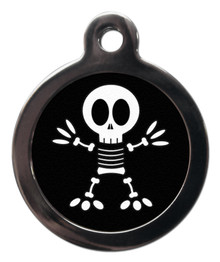 Fun Halloween Skeleton pet tag