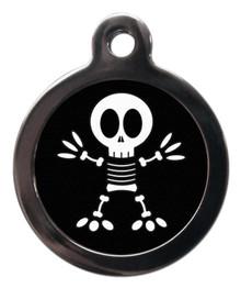 Fun Halloween Skeleton pet tag