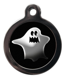 Scary Ghost Dog Dog Tag