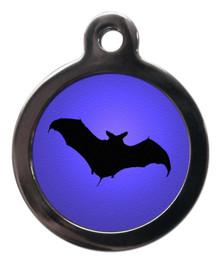 Spooky Bat Dog ID Tag