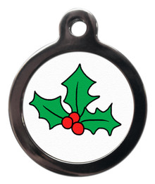 Christmas Holly Dog Dog Tags