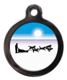 Sled Dog Pet ID Tag