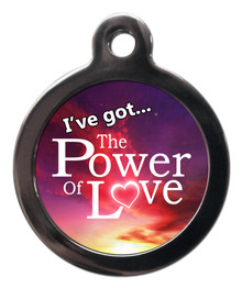 The Power of Love Dog ID Tag