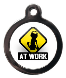 AT WORK DOG ID TAG